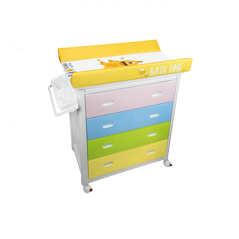 White or Multicolour Baby Bath + Plastimons Changing Unit