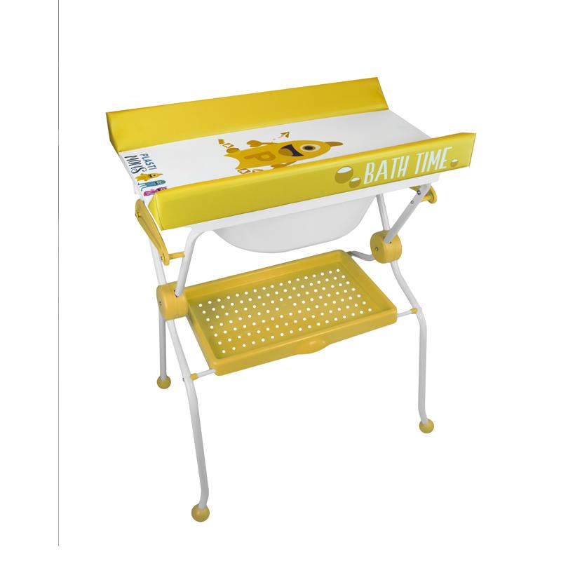 Folding Baby Bath + Plastimons Changer: Blue, pink or yellow