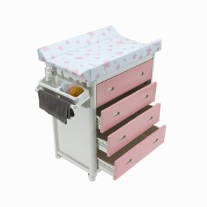 Pink Baby Bath + Pink Dots Changing Unit