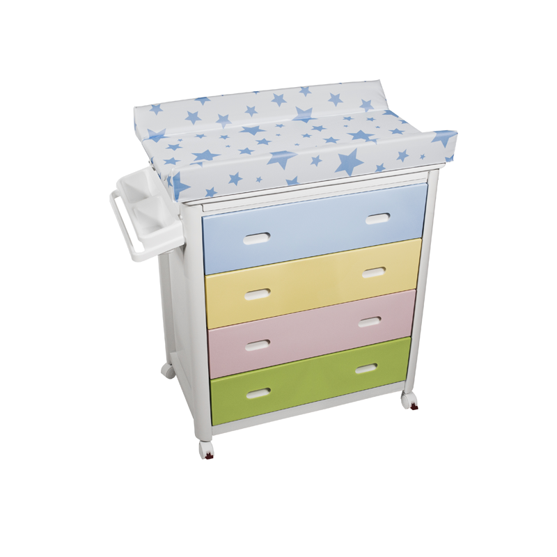 Multicolour Baby Bath + Blue Stars Changing Unit