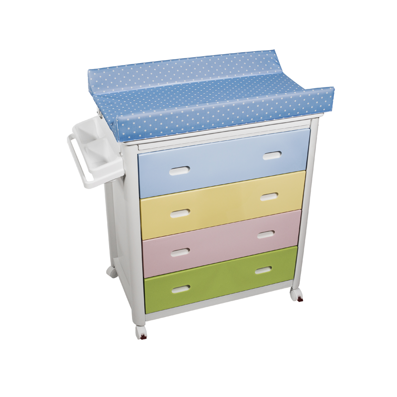 Multicolour Baby Bath + Blue Dots Changing Unit