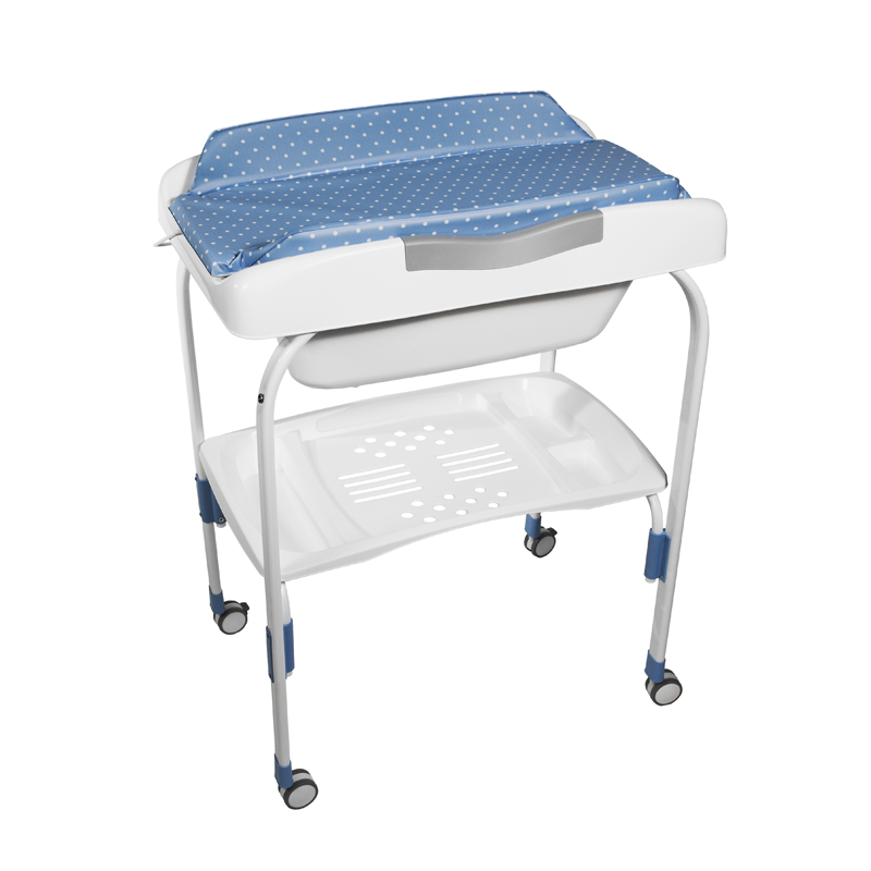 Anatomic Baby Bath + Blue Dots Changer