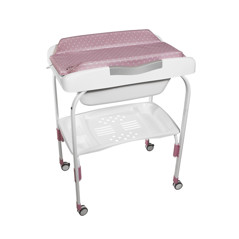 Anatomic Baby Bath + Pink Dots Changer