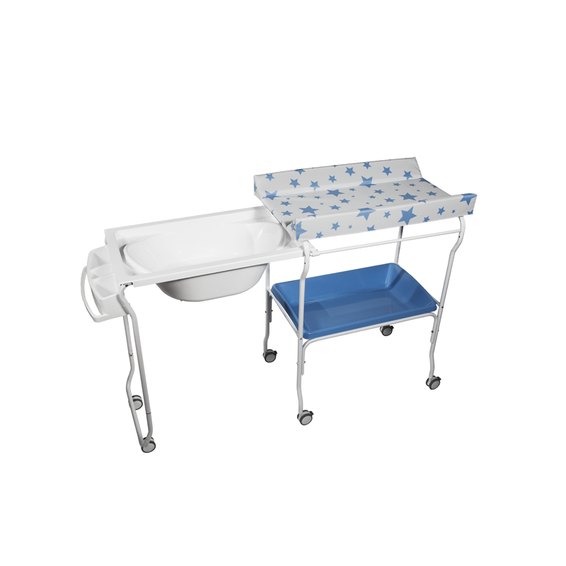 Extendable Baby Bath + Blue Stars Changer