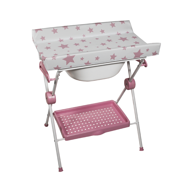 Baby Bath + Pink Stars Changer