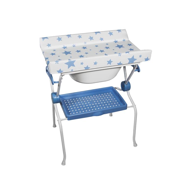 Folding Baby Bath + Blue Stars Changer