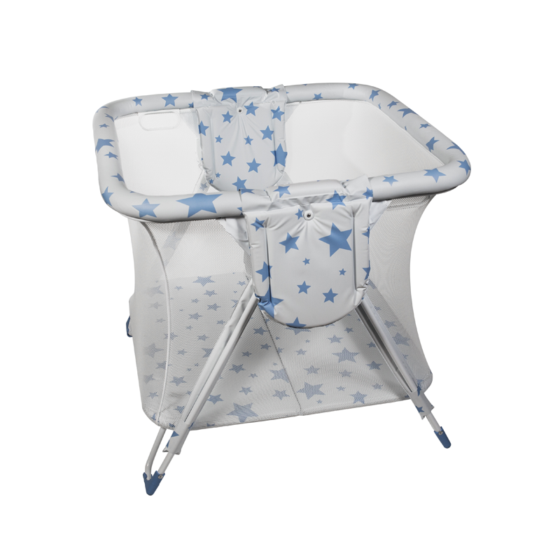 Blue Stars Square American Playpen