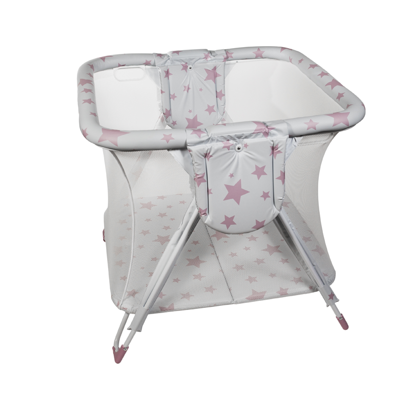 Pink Stars Square American Playpen