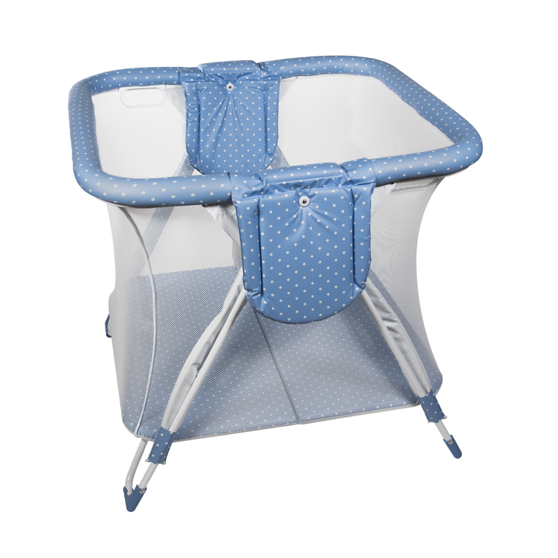 Blue Dots Square American Playpen