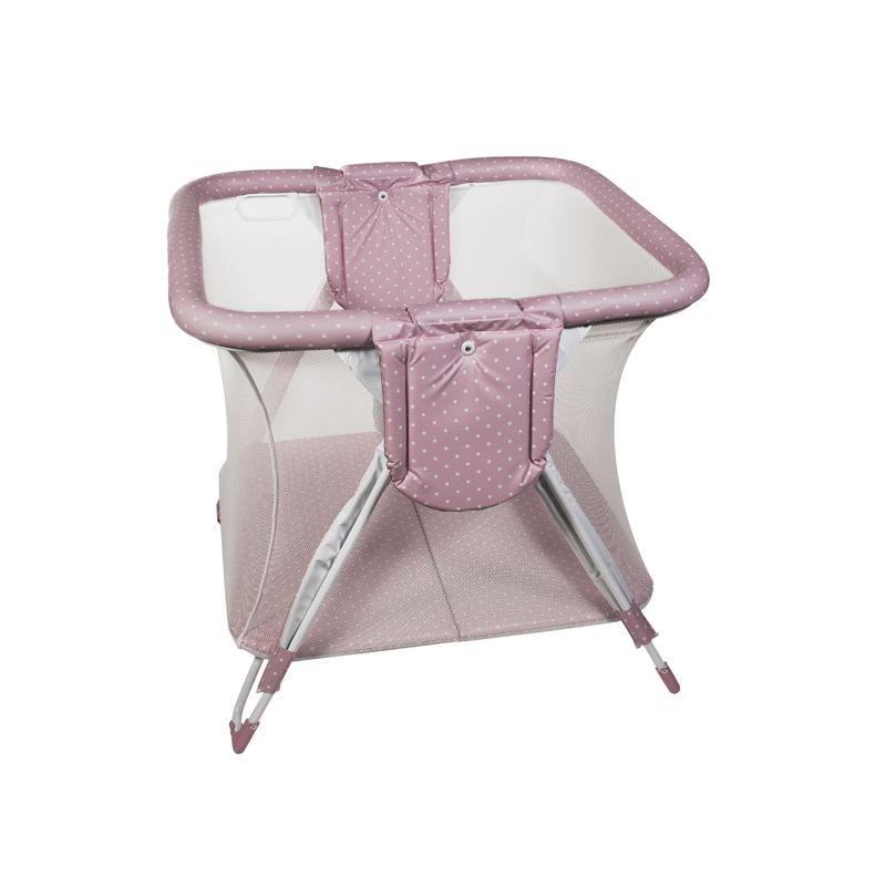 Pink Dots Square American Playpen