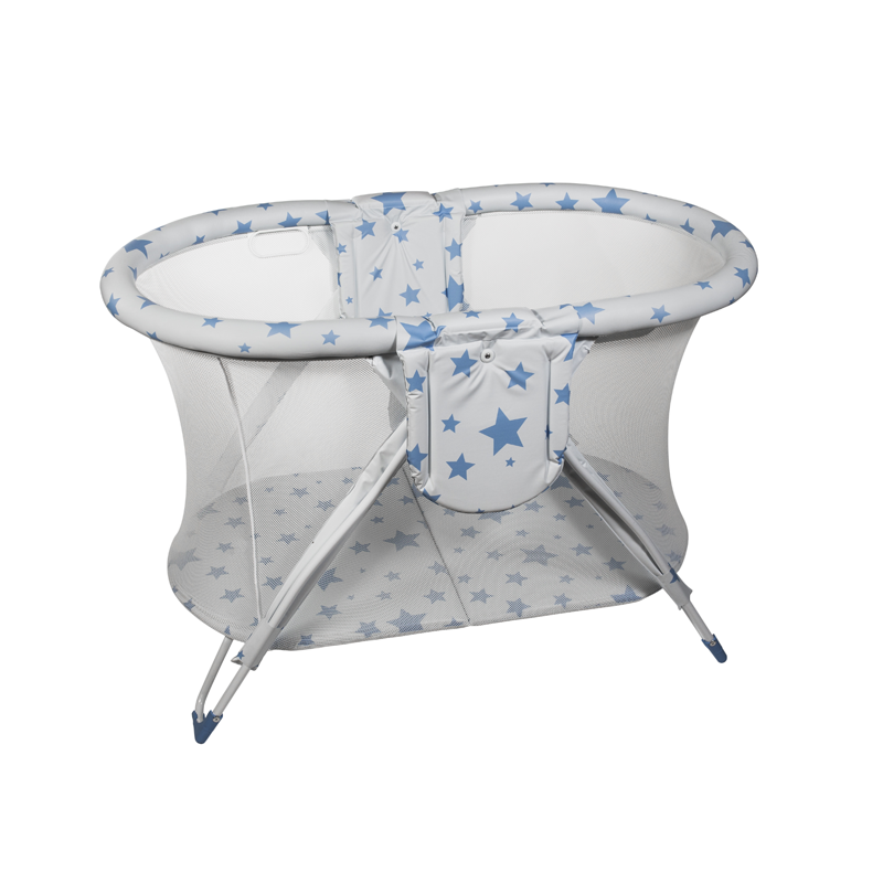 Blue Stars Curved American Playpen