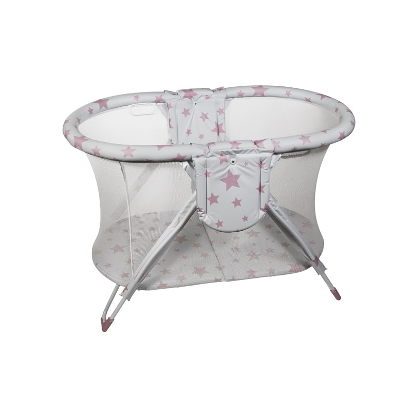 Pink Stars Curved American Playpen