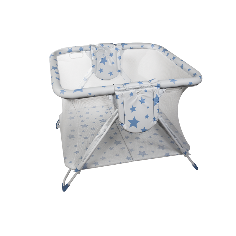 Blue Stars Twin American Playpen