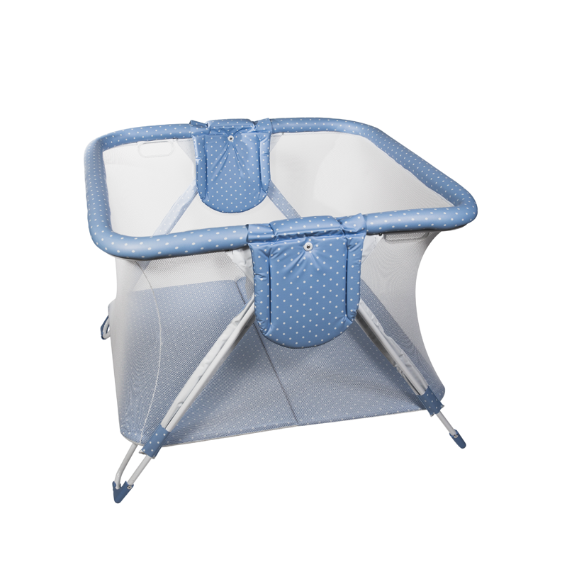 Blue Dots Twin American Playpen