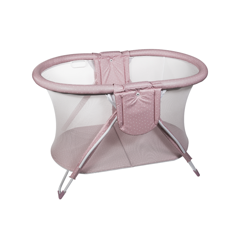 Pink Dots Curved American Playpen