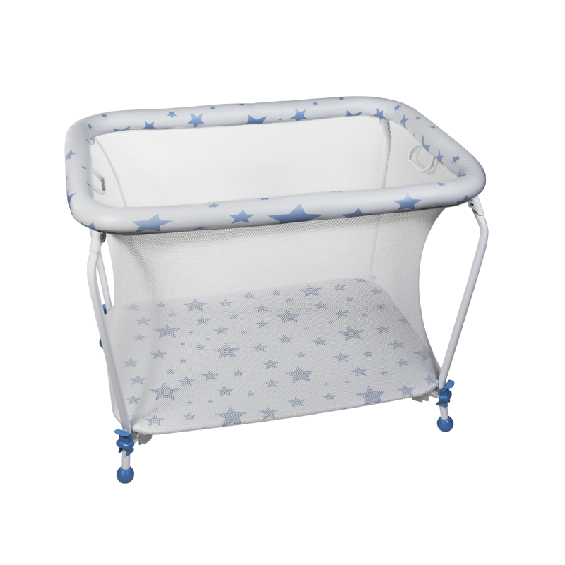 Blue Stars Rectangular Playpen