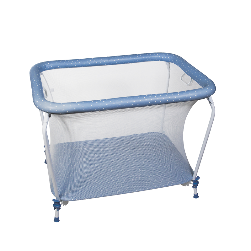 Blue Dots Rectangular Playpen