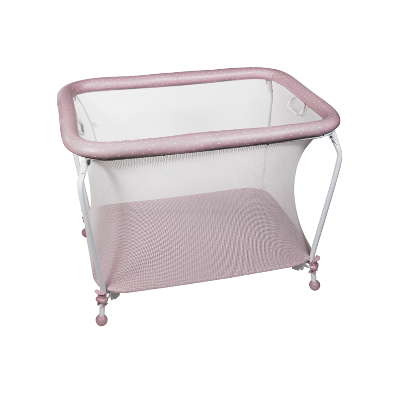 Pink Dots Rectangular Playpen